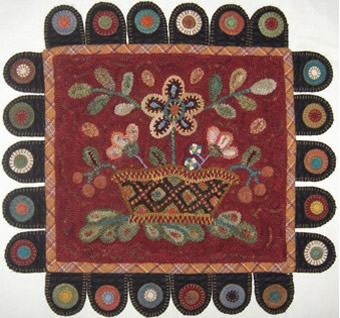 Wool Applique Designs, Patterns and Kits for Penny Rugs